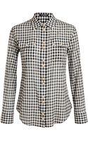 Balmain Checked Cotton Shirt - Lyst