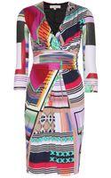 Etro Stretch Jersey Printed Dress - Lyst