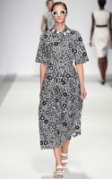 Holly Fulton Printed Bonded Cotton Poplin Shirt Dress - Lyst