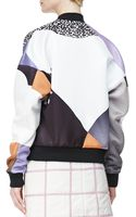 3.1 Phillip Lim Dropped-shoulder Printed Bomber Jacket - Lyst