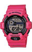 G-shock Mens Digital Pink Resin Strap Watch 55mm 4 - Lyst