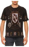 Dolce & Gabbana Shieldprint Jersey Tee - Lyst