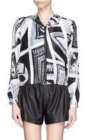 Emilio Pucci Taitù Print Silk Hood Jacket - Lyst