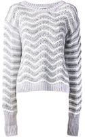 Jil Sander Wavy Stitch Sweater - Lyst