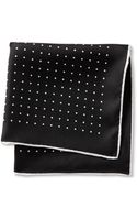Banana Republic Polka Dot Silk Pocket Square Black - Lyst