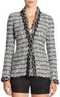 Oscar de la Renta Jacquard Tweed Jacket - Lyst