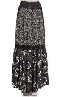 Marc Jacobs Laceinset Long Floral Skirt Gray - Lyst