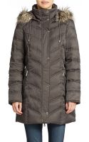 Kenneth Cole Hooded Down Parka - Lyst