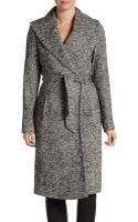 Saks Fifth Avenue Black Label Herringbone Blanket Coat - Lyst