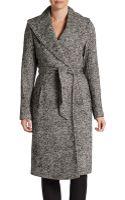 Saks Fifth Avenue Black Label Herringbone Blanket Coat - Lyst