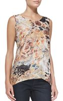 Lafayette 148 New York Lucy Sleeveless Printed Top - Lyst