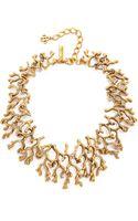 Oscar de la Renta Coral Branch Necklace - Russian Gold - Lyst