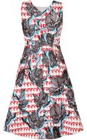 Peter Pilotto Sequined Crescent Dress - Lyst