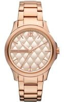 Armani Exchange Ax Armani Exchange Watch Womens Rose Gold Tone Stainless Steel Bracelet 36mm - Lyst