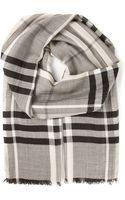 Burberry Brit Checked Scarf - Lyst