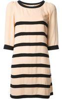 Edward Achour Paris Striped Dress - Lyst