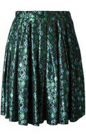 Yves Saint Laurent Vintage Brocard Skirt - Lyst
