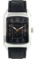 Ben Sherman Black Leather Look Strap Watch Bs027 - Lyst