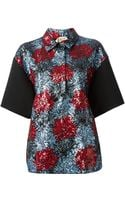 No 21 Sequins Embroidered Flowers Front Shirt - Lyst