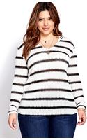 Forever 21 Out To Sea Hooded Top - Lyst