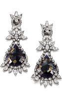 Dannijo Aurelia Crystal Drop Earrings - Lyst