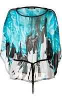 Roberto Cavalli Silk Feather Print Top - Lyst