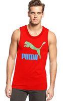 Puma Logo Tank Top - Lyst