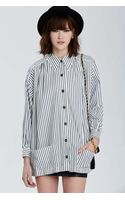 Nasty Gal Vintage Chanel Pessac Striped Button Down Shirt - Lyst