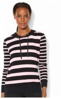Lauren by Ralph Lauren Striped Hoodie - Lyst