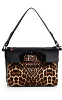 Christian Louboutin Spotted Calf Hair Leather Foldtop Bag - Lyst