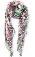 Etro Patterned Scarf - Lyst