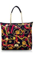 Juicy Couture Navy  Berry Anja Graphic Tote - Lyst