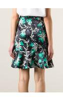 Mary Katrantzou Roush Print Ruffle Skirt - Lyst