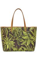 Etro Paisley  Palms Coated Canvas Tote Bag - Lyst