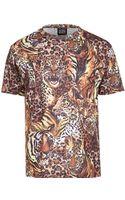 River Island Yellow New Love Club Safari Print Tshirt - Lyst