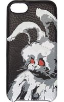 McQ by Alexander McQueen Black Grain Leather Angry Bunny Iphone 5 Case - Lyst