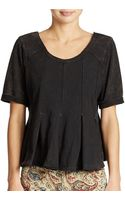 Free People Pleated Drifter Tee - Lyst