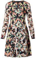 Erdem Tamia Peabodyprint Silk Dress - Lyst