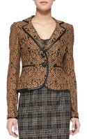 Nanette Lepore I Spy Leathertrim Lace Jacket - Lyst