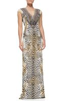 Camilla Silk Animal-print Long Coverup Dress - Lyst