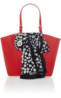 DKNY Red Large Scarf Tote Bag - Lyst