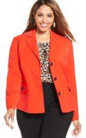 Jones New York Collection Plus Size Buttonfront Jacket - Lyst