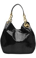 Michael by Michael Kors Fulton Embossed Patent Leather Large Tote Bag - Lyst