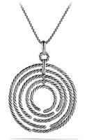 David Yurman Willow Pendant Necklace with Diamonds - Lyst