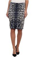 Karen Kane Leopard Print Textured Skirt - Lyst