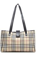 Burberry Preowned Nova Check Medium Tote Bag - Lyst