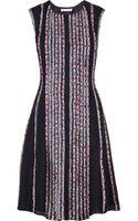 Oscar de la Renta Printed Silkcrepe Dress - Lyst