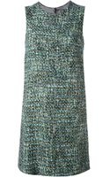 Dolce & Gabbana Bouclé Shift Dress - Lyst