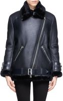 Acne Studios Velocite Lamb Shearling Leather Jacket - Lyst