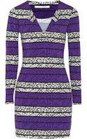 Diane von Furstenberg Reina Printed Stretch Jersey Mini Dress - Lyst